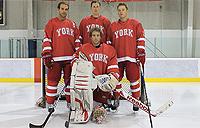 4 male York hockey players