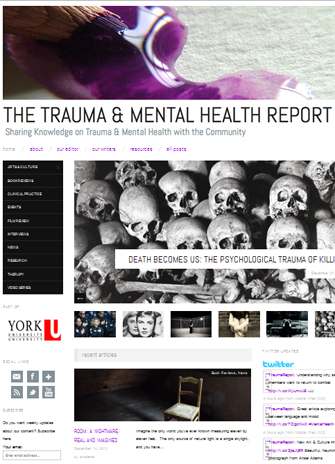 Cover of the Trauma and Mental Health Report