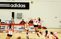 womens volleyball game