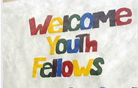 Poster welcoming youth fellows
