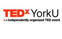 Logo for the TEDx YorkU speaker series