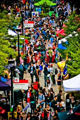 The Festival Village during a previous YorkFest
