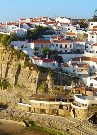 A photograph of a Portuguese village
