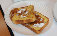 Two pieces of French Toast