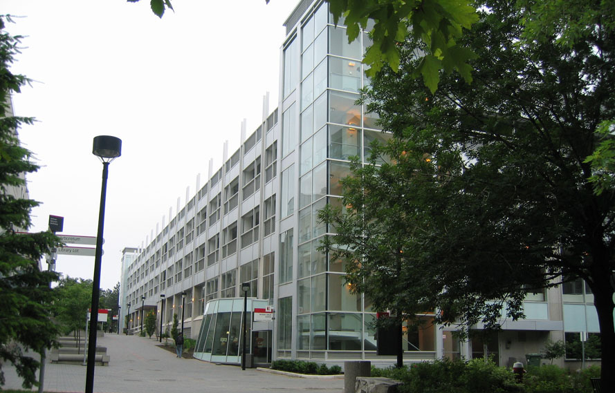 picture of the outside of a glass building