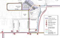 map of the Bridge Closure
