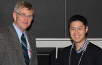 Dean with student winner Andrew Chan