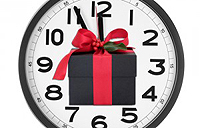 Clock with present inside