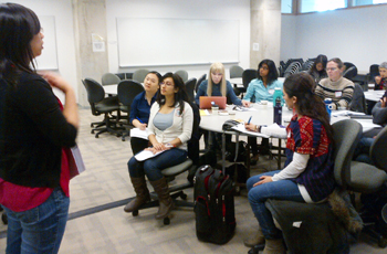 Teaching Commons staff lead a course for graduate students