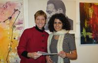 Janet Morrison and student Ghada Sasa