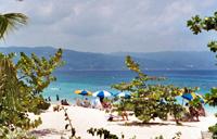 A beach in Jamaica