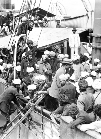 Image of the croweded Komagata Maru