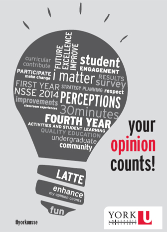 National Student Survey on Engagement poster