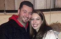Newly engaged couple Sean Telford and Victoria Casey