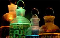bottles of chemicals