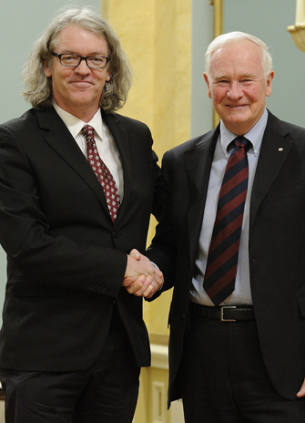 Scott Menary shakes hands with the Governor General of Canada