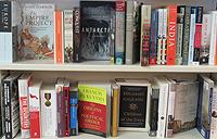 Books on a shelf