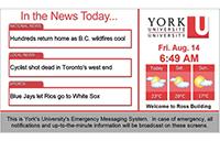 York University's emergency messaging system