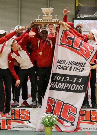 Mens track and field winning team photo for YFile