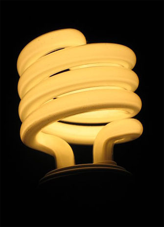 Image of an incandescent lightbulb for the YFile homepage story on res race to zero