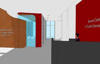 artist rendering for new Bennett Centre lobby