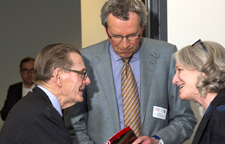 Image of Dean Crow with Presdient emeritus H. Ian Macdonald and former FGS dean John Lennox