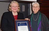 From left Laurel Sefton MacDowell and Linda Briskin