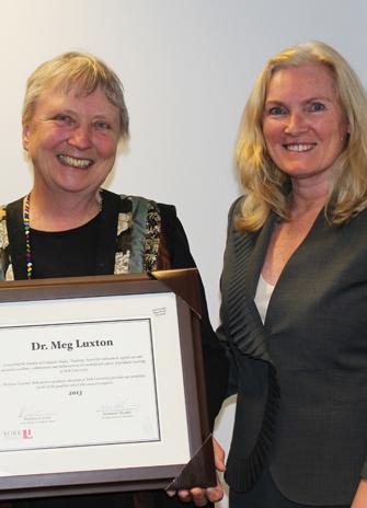 Meg Luxton with Provost Rhonda Lenton