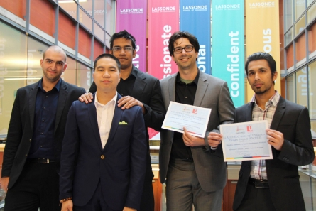 Engineering students competed in a fourth year engineering project.