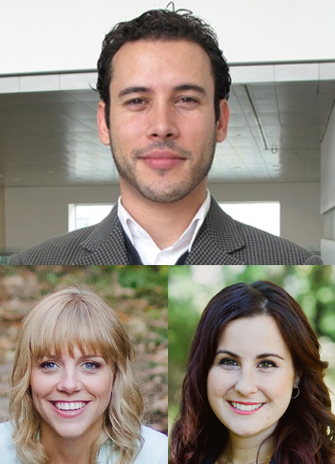 Clockwise from top, Jonathan Weiss, Stephanie Brown-Lavoie and Michelle Viecili V
