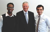 From left, Mohamed Shek Salah, Robert Tiffin and Nickan Motamedi