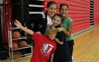 children at sport camp