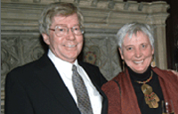 From left, David Morley and Beth Franklin