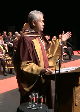 Mamdouh Shoukri delivers his honorary degree speech