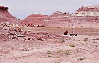 Mars Rover Challenge in Utah desert