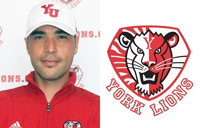 Chris Field and York Lions logo