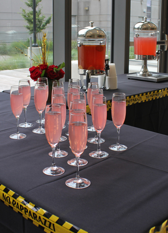 Drinks are served at the Convocation Appreciation Luncheon for volunteers. Photo by Melissa Kennedy