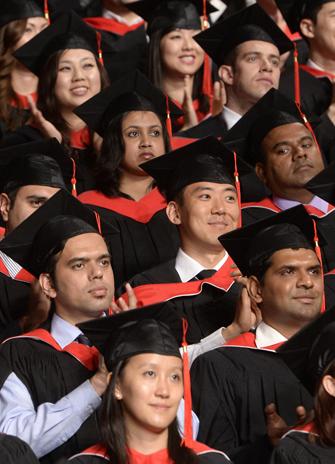 new grads celebrate during 2014 convocation ceremonies