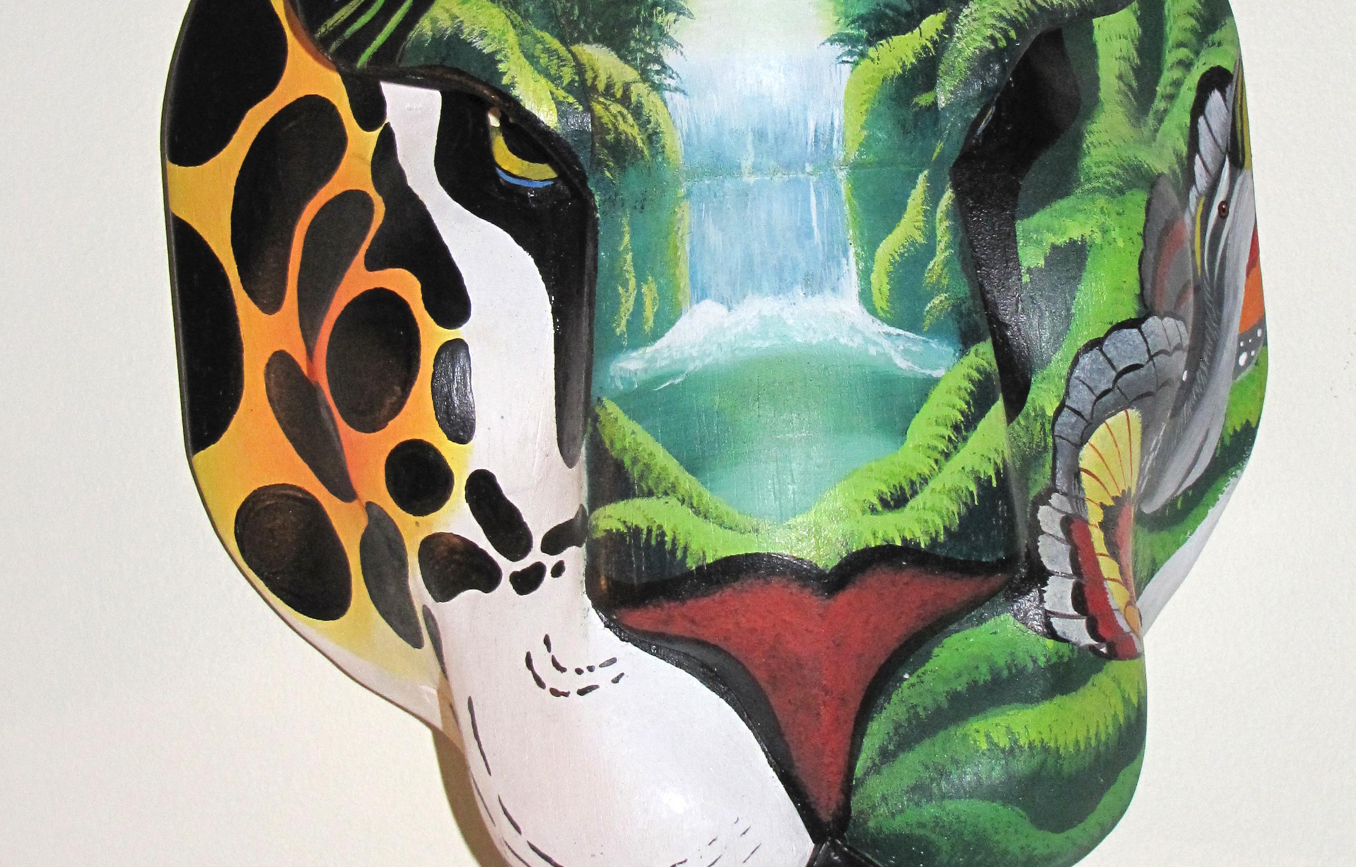 Boruca mask at exhibit