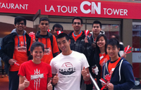 Students climb the CN Tower