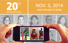Take our kids to work poster crop for YFile homepage