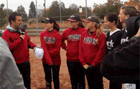 Women's fastball try outs night