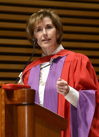 Kathleen Taylor at Friday's Fall Convocation ceremony
