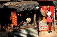 Market vendor in South Africa