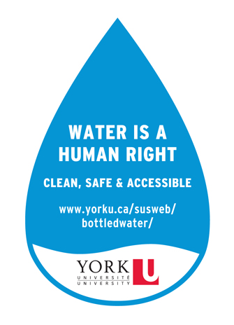Water is a human right graphic