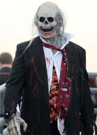 Picture shows a zombie