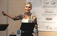 Agnes Vinet talks at obesity symposium