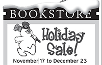 Bookstore holiday sale poster