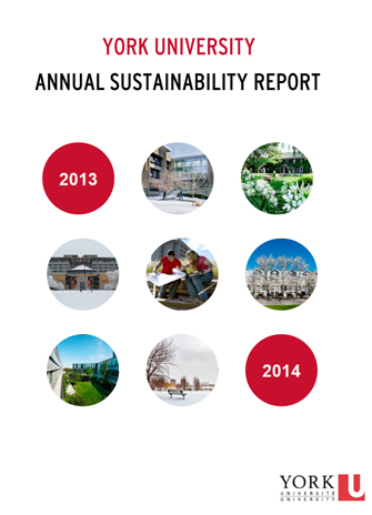 cover of the York University Sustainability Report