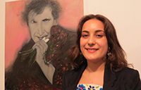 First prize winner Estela William with her artwork